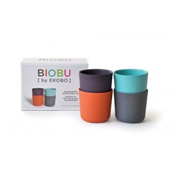 Set de  4 vasos  de Bambú EKOBO by BIOBU Bambino collection (2)