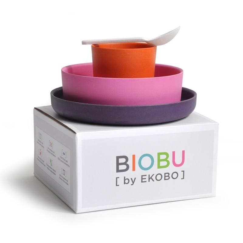 Vajilla infantil de Bambú EKOBO by BIOBU Bambino collection (1)
