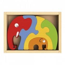 Puzzle Familia Elefante Begin Again