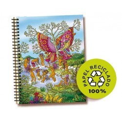 cuaderno mariposa tapa dura