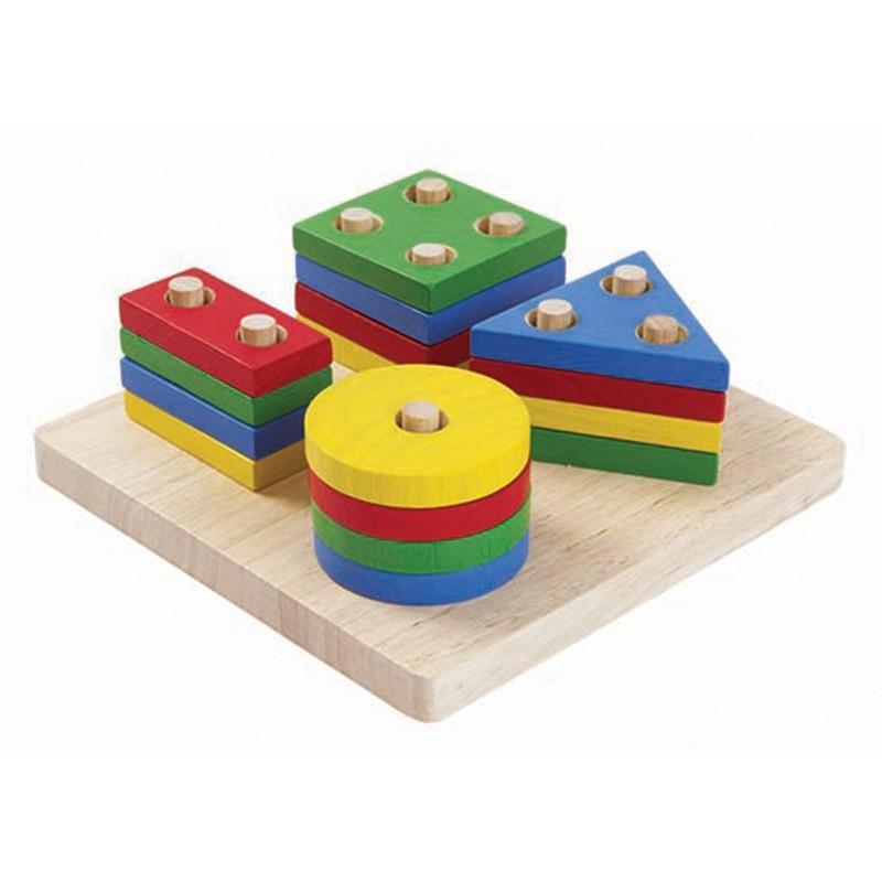 Apilable de figuras geométricas Plan Toys
