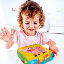 Puzzle cubos de la granja