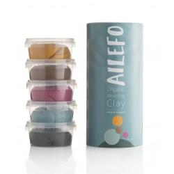 Plastilina Orgánica Ailefo ( 5 colores 160gr)