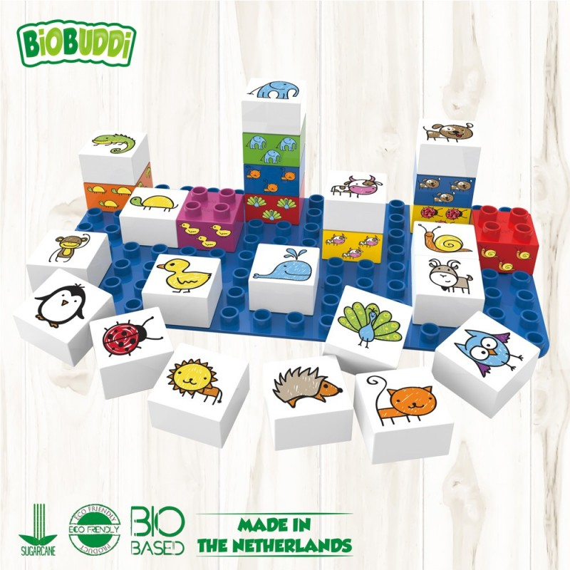 Bloques Animales Biobuddi ( 27 piezas+Base)