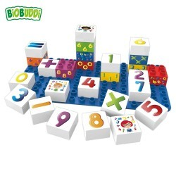 Bloques Números Biobuddi ( 26 piezas+Base)
