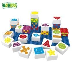 Bloques Símbolos Biobuddi ( 26 piezas+Base)