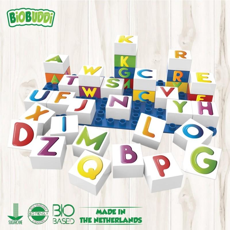 Bloques Letras Biobuddi ( 35 piezas+Base)