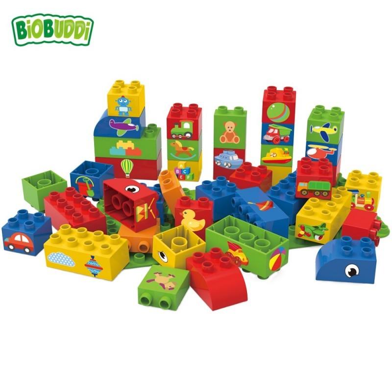 Bloques Arco iris Biobuddi ( 39 piezas+Base)