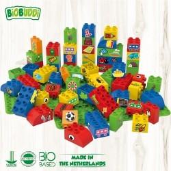 Bloques Arco iris Biobuddi ( 58 piezas+2Bases)