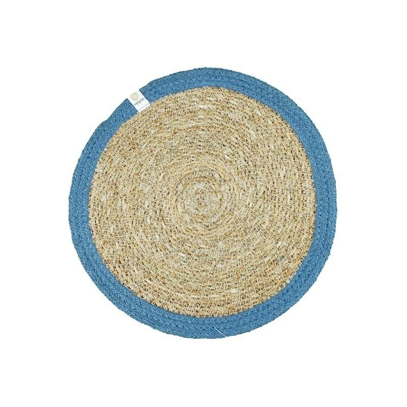 Bandeja azul de Yute y hierba marina ReSpiin