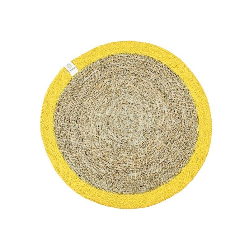 Bandeja amarilla de Yute y hierba marina ReSpiin