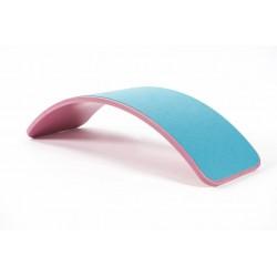 Tabla curva Wobbel azul con fieltro mostaza