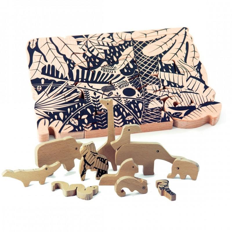 Puzzle jungla Bajo