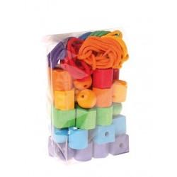 Geo-formas madera arco iris