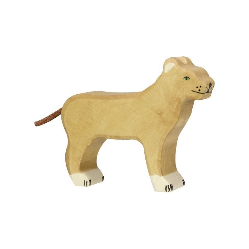 Leona- Animal de madera