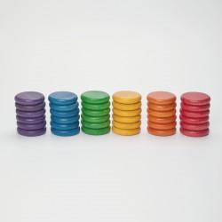 36 Monedas arco iris