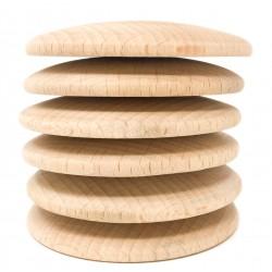 3 Discos de madera natural Grapat