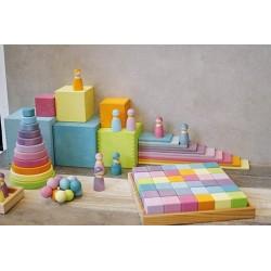 Cajas apilables grandes pastel