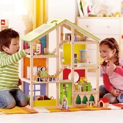 Casa de muñecas con muebles HAPE