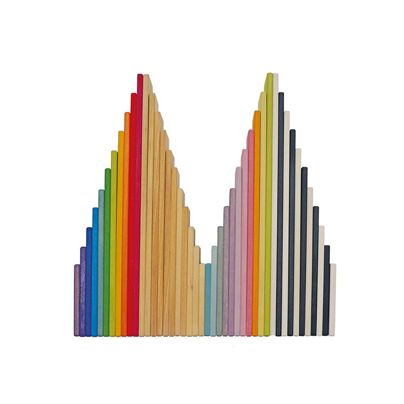 Tablones de colores para Arco iris Waldorf Grimm´s