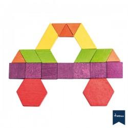 250 Piezas de madera Geométricas Arco Iris