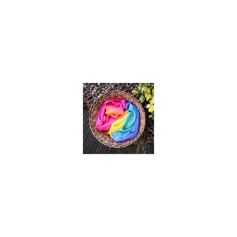 Pañuelo de seda natural Arco Iris