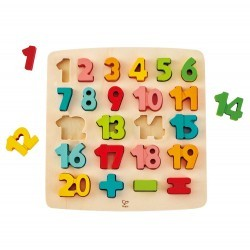 Puzzle números 1 al 20 Hape