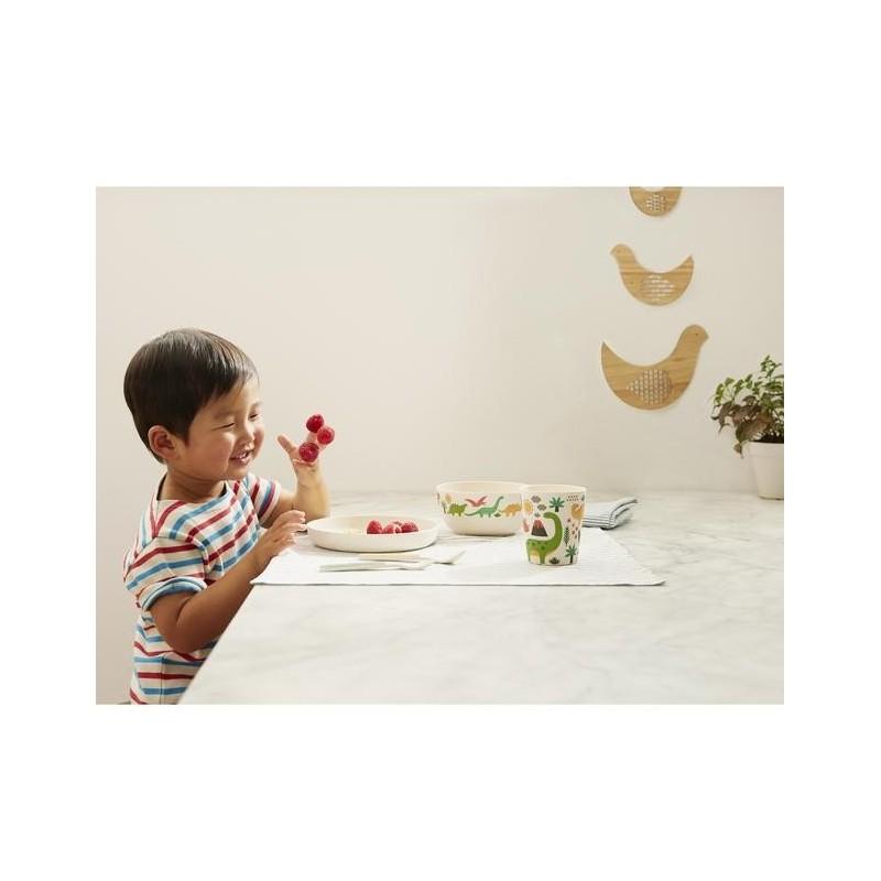 Vajilla Infantil de Bambú Dinosaurios (5 Piezas) Petit Collage