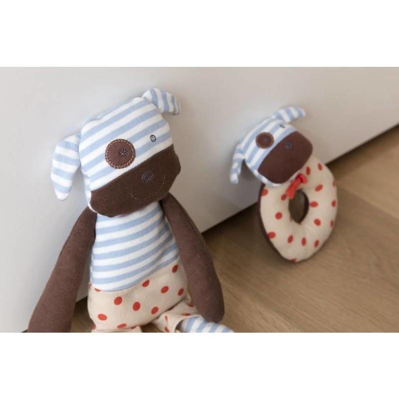 Sonajero Perrito Boxer de algodón orgánico