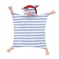 Doudou Cerdito Pirata de algodón orgánico
