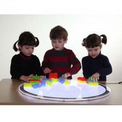 Mesa de luz LED Portátil Redonda 50 cm Tickit