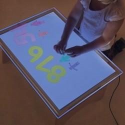Mesa de luz LED 16 Colores Portátil A2 Tickit
