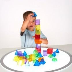 Formas geométricas translúcidas 3D (36 Piezas)