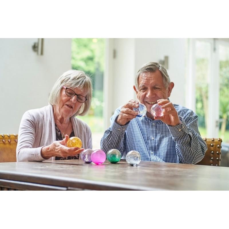 7 Bolas sensoriales con purpurina