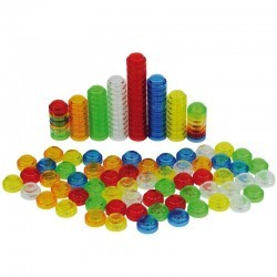 500 piezas apilables translúcidos