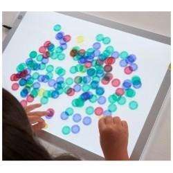 1000 piezas de colores translúcidas