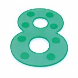 Números grandes silicona verdes del 0 al 9