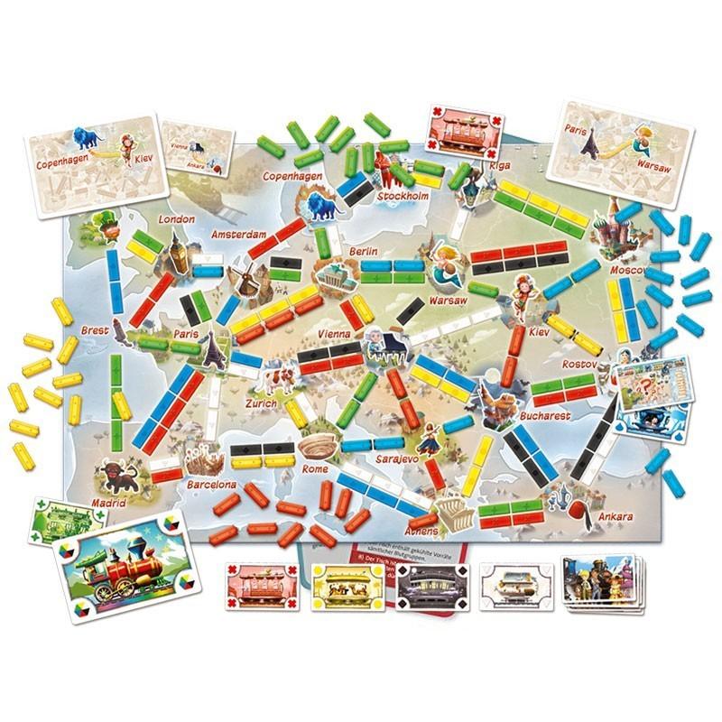 ¡Aventureros al tren! El Primer Viaje - juego estratégico de tablero
